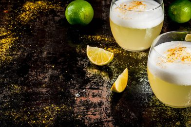 Delicioso pisco sour chileno