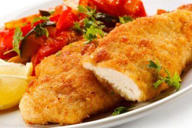 Delicioso peixe empanado muito simples