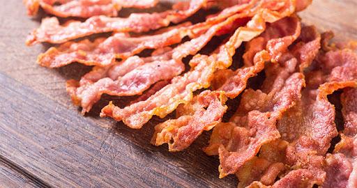 bacon crocante de microondas