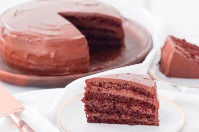 Recheio de bolo de chocolate simples