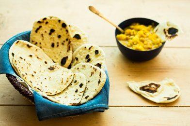 Delicioso pão Indiano - Naan
