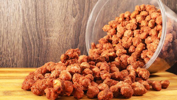 amendoim doce de microondas