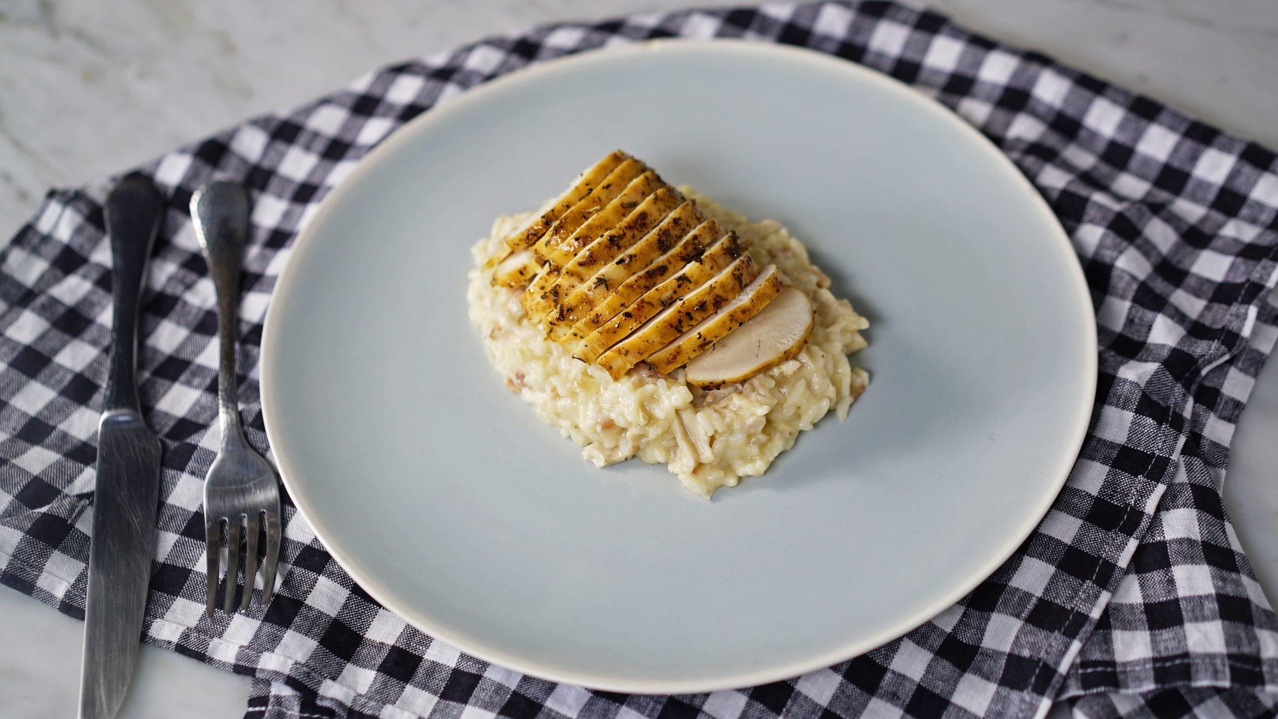 risoto com frango