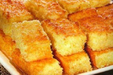Receita simples de bolo de aipim