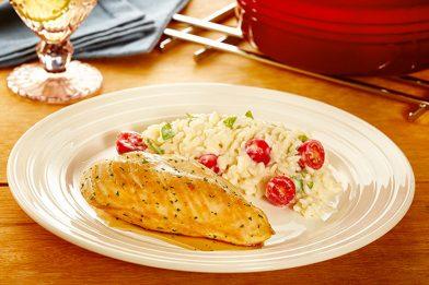 Simples receita de risoto com frango