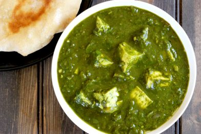 Delicioso Palak Paneer - prato vegetariano