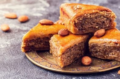 Deliciosa sobremesa Baklava Grega