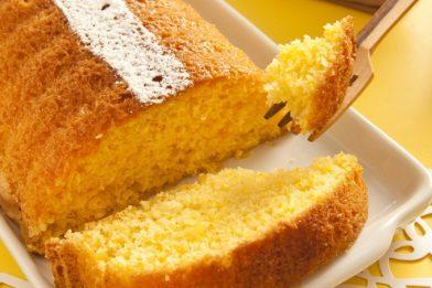 Receita de bolo de flocos de milho simples