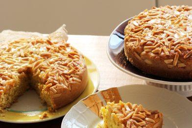 Simples e prático bolo de amêndoas