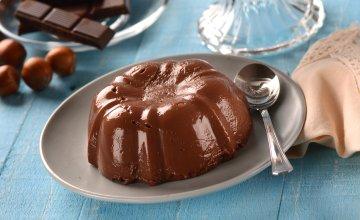 Receita simples de pudim de chocolate saudável