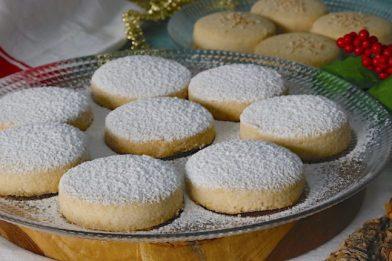 Biscoitos amanteigados Polvorón