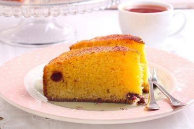 Delicioso bolo de fubá com laranja