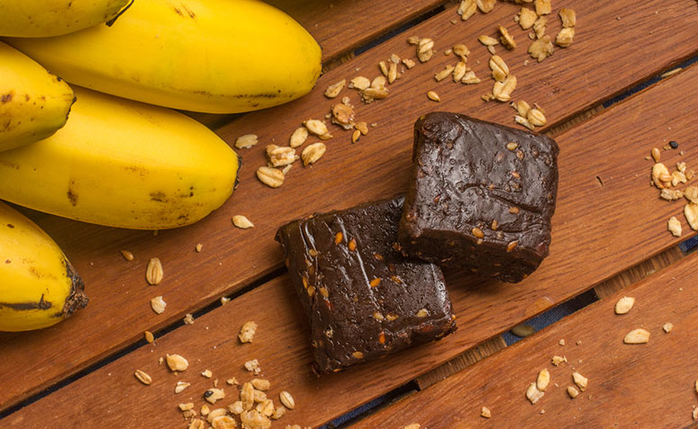 doce de banana com gelatina