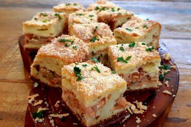 Deliciosa torta de palmito de liquidificador
