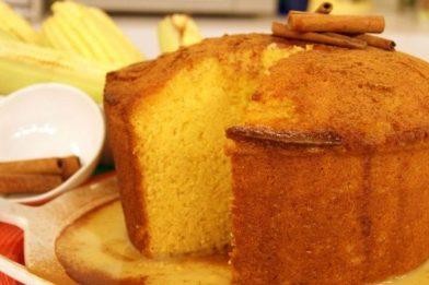 Receita de bolo de milho com flocão