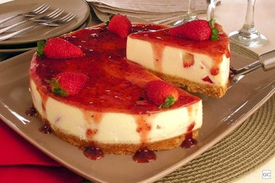 Delicioso cheesecake receita simples