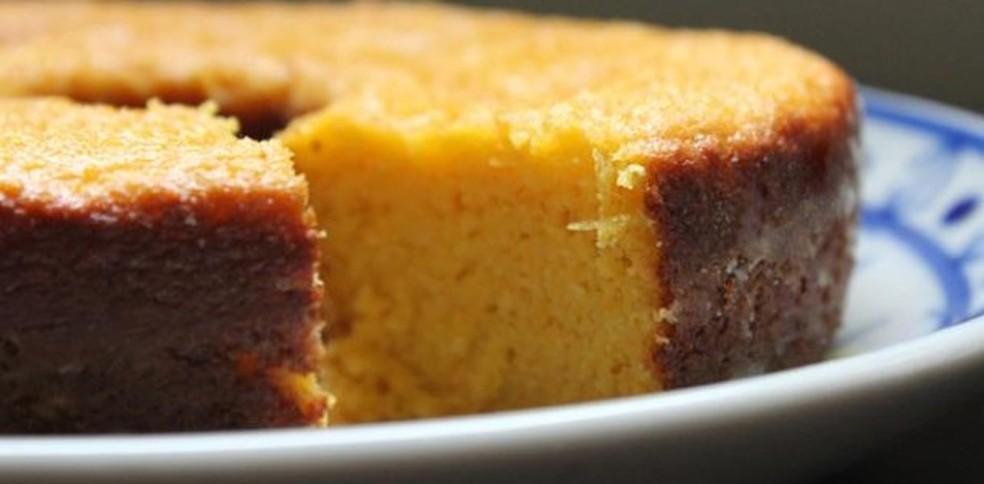 bolo de milho com leite condensado