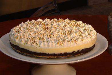Prática torta de limão com chocolate