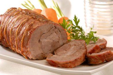 Suculento lombo de porco assado