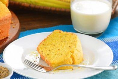 Bolo de milho com leite condensado prático