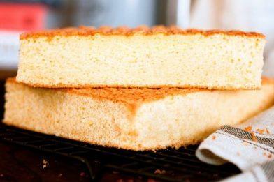 A melhor massa de pão de ló
