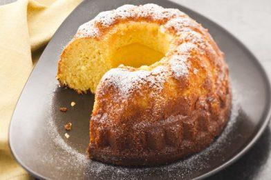Delicioso bolo de milho com queijo