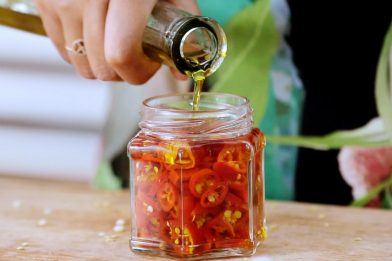 Passo a passo simples de pimenta em conserva