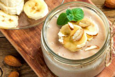 Simples e prático mousse de banana