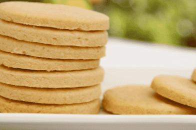 Delicioso biscoito de manteiga caseiro