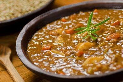 Simples receita lentilha