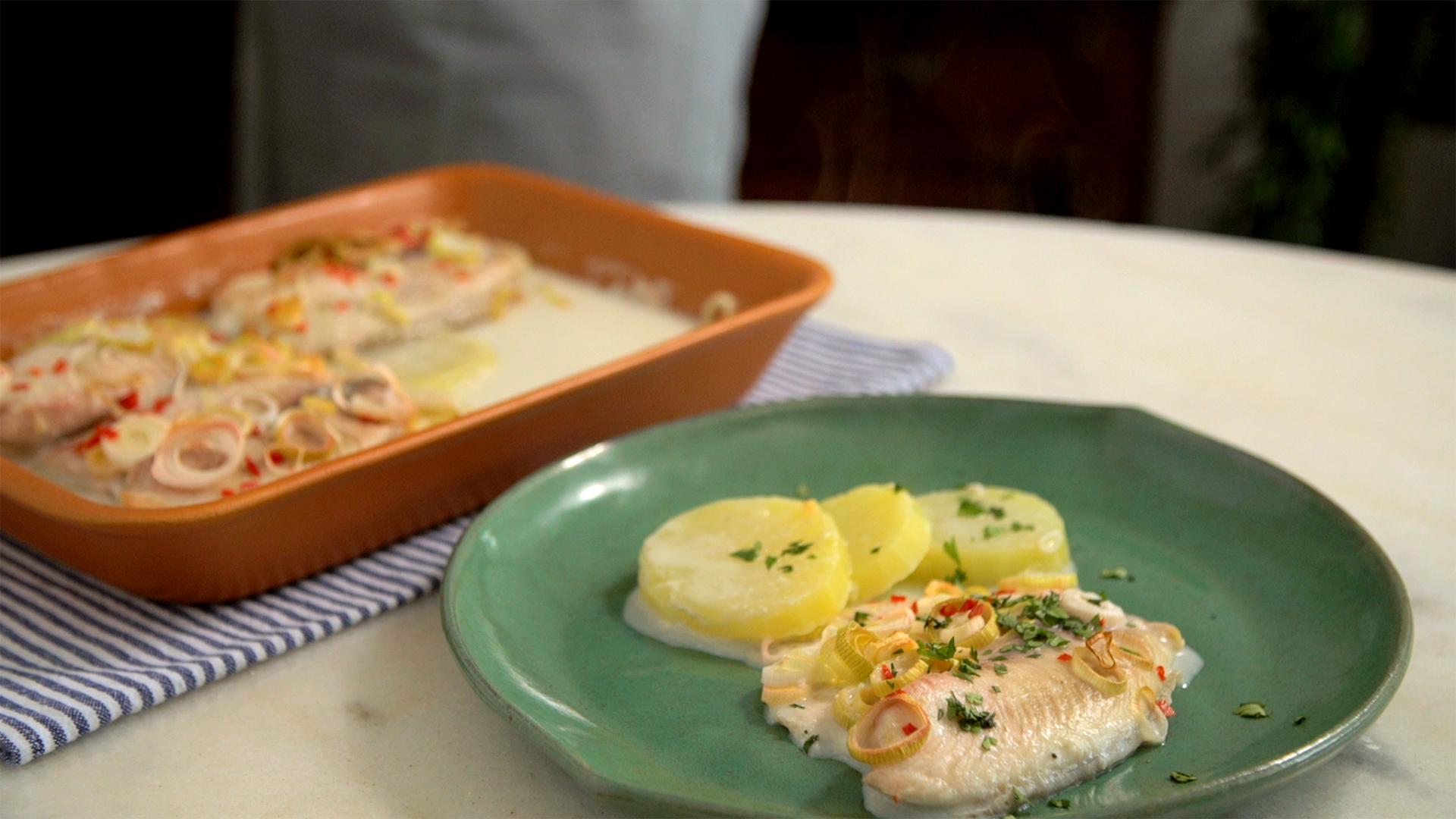 receita de filé de peixe no forno com creme de leite