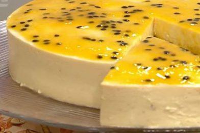 Delicioso bolo de maracujá