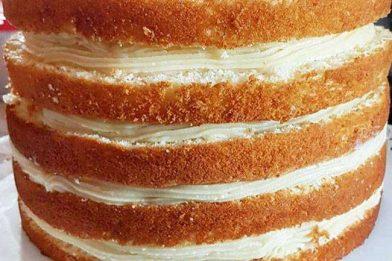 Receita de bolo de pão de ló grande