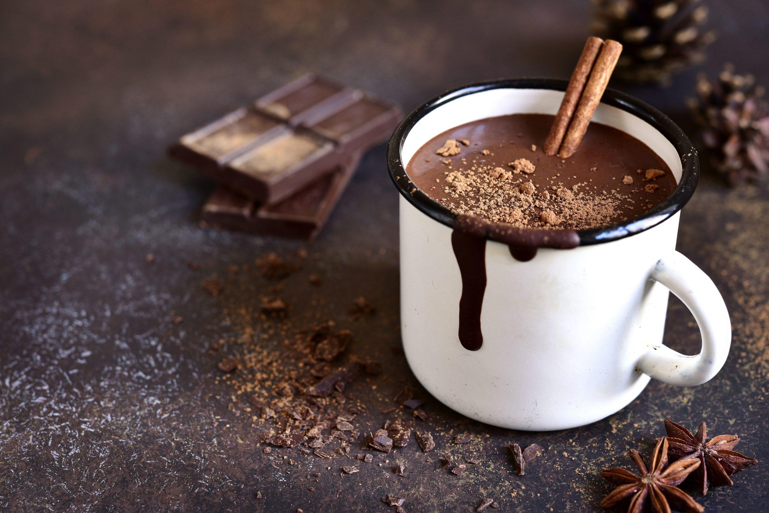 chocolate quente com chocolate