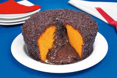 Receita de bolo vulcão de cenoura