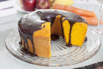 Receita de bolo de cenoura fit