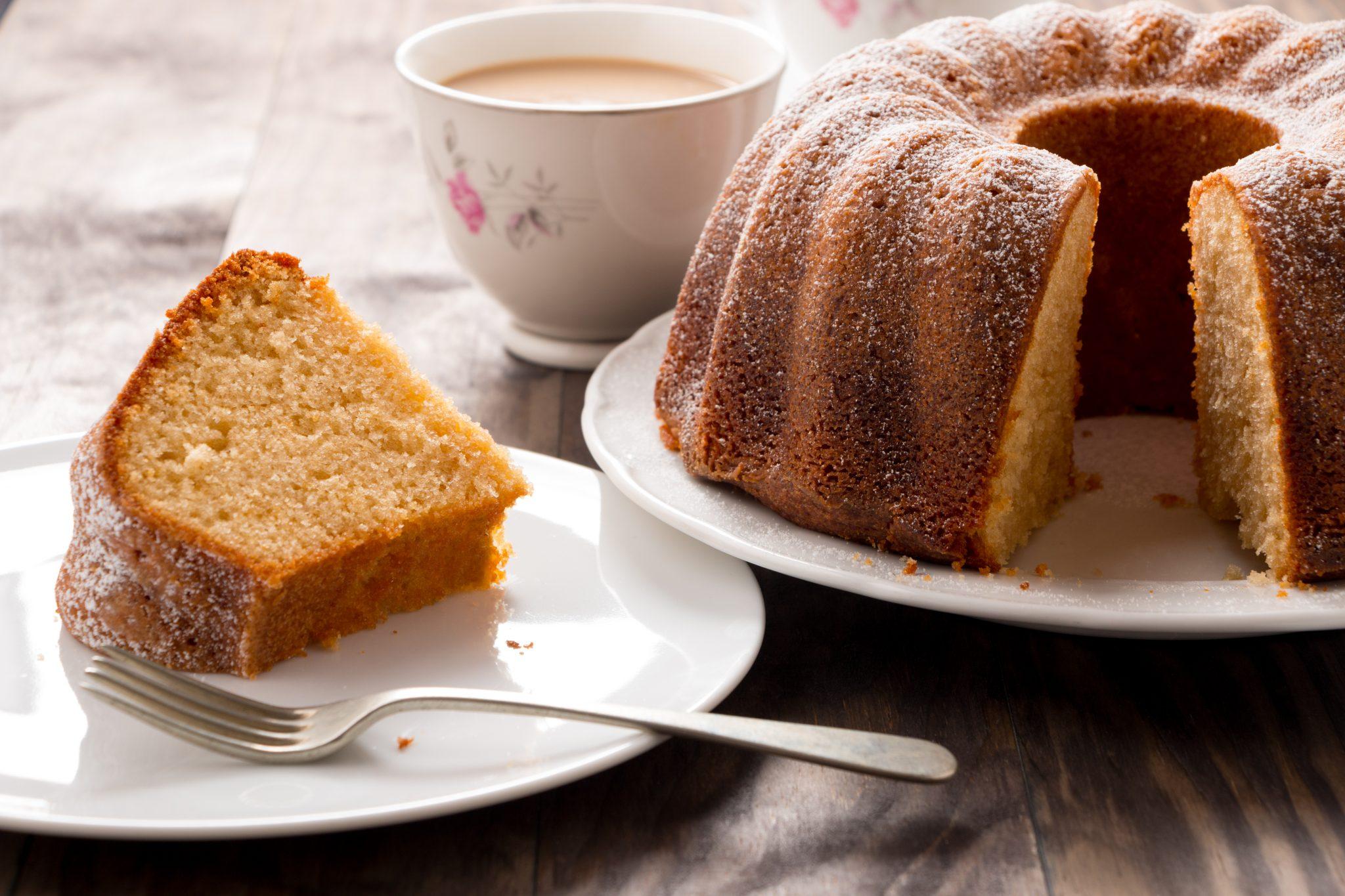 bolo para café da tarde