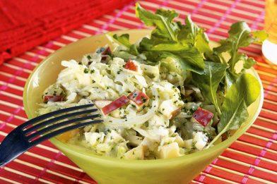 A melhor salada de repolho com maionese