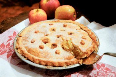 Simples torta de maçã americana