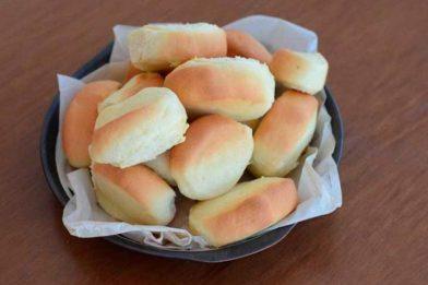 Pão de leite em pó simples e muito gostoso