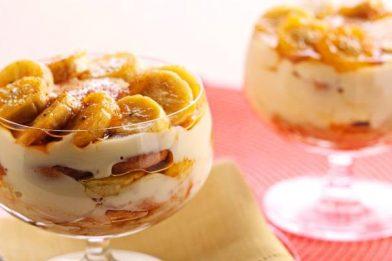 Sobremesa de banana em poucos minutos