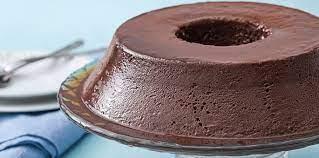 Pudim de chocolate muito saboroso
